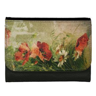 Vintage Floral Leather Wallet