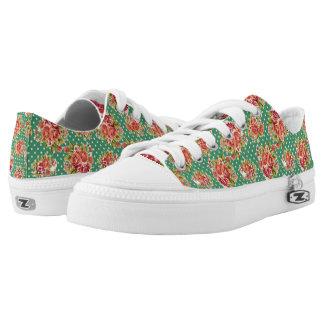 Vintage Floral Low Rise Printed Shoes