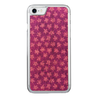 Vintage Floral Magenta Pink Violets Flowers Carved iPhone 8/7 Case