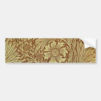 Vintage Floral Marigold Wallpaper Pattern Bumper Sticker