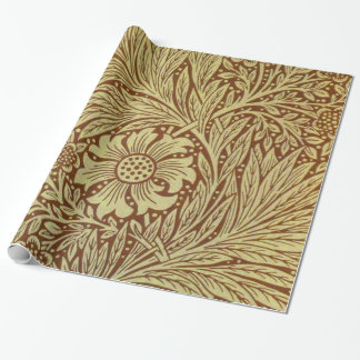 Vintage Floral Marigold William Morris Wrapping Paper