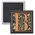 Vintage Floral Monogram 'B' - Magnet