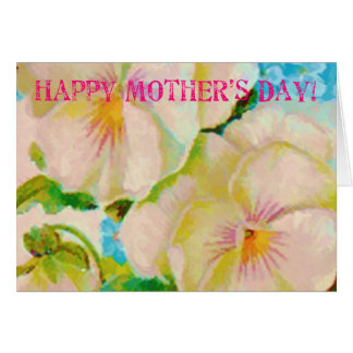 Vintage Floral Mother's Day Stamp Card