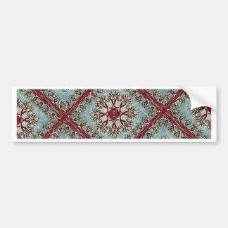 Vintage Floral Motif Bumper Sticker
