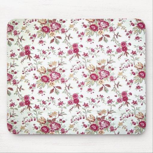 Vintage Floral Mouse Pads