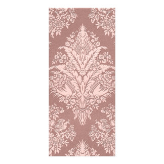 Vintage Floral on Rosy Beige Customized Rack Card