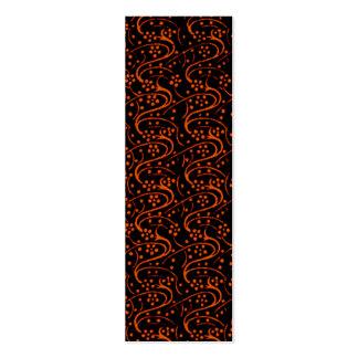 Vintage Floral Orange Black Business Card Template