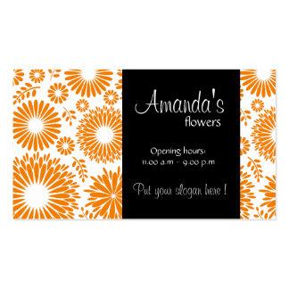 Vintage floral orange Business Card