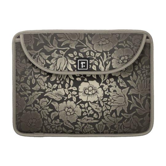 vintage floral ornaments sleeve for MacBook pro