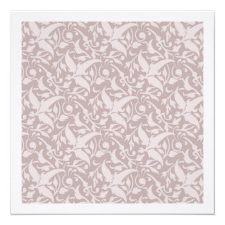 Vintage Floral Pattern 1 - Faded Red 13 Cm X 13 Cm Square Invitation Card