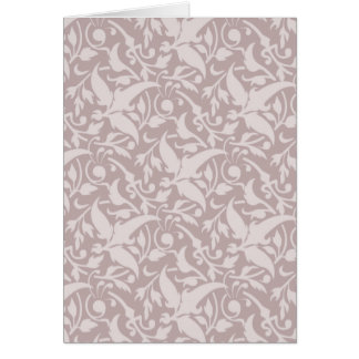 Vintage Floral Pattern 1 - Faded Red Greeting Card