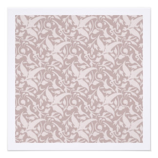 Vintage Floral Pattern 1 - Faded Red Personalized Invitation
