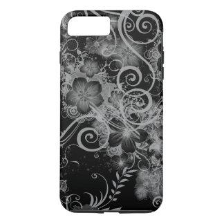 Vintage Floral Pattern Black and White iPhone 8 Plus/7 Plus Case