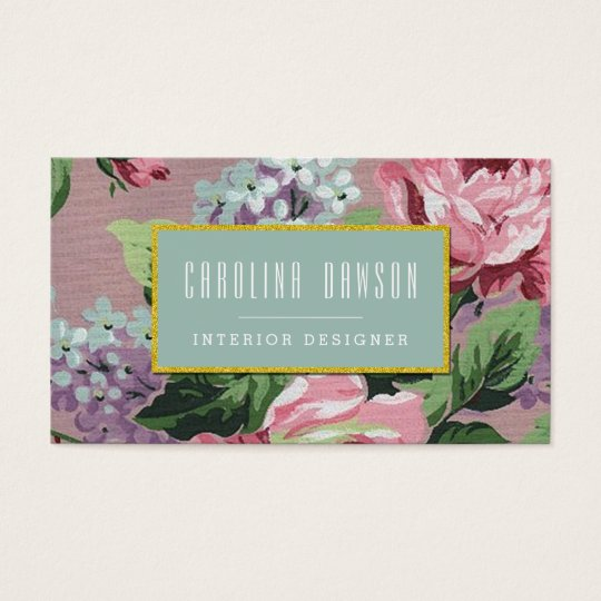Vintage Floral Pattern Business Card
