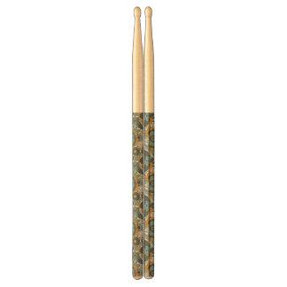 Vintage floral pattern drumsticks