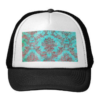 Vintage Floral Pattern Gift Red Blue 2 Trucker Hat