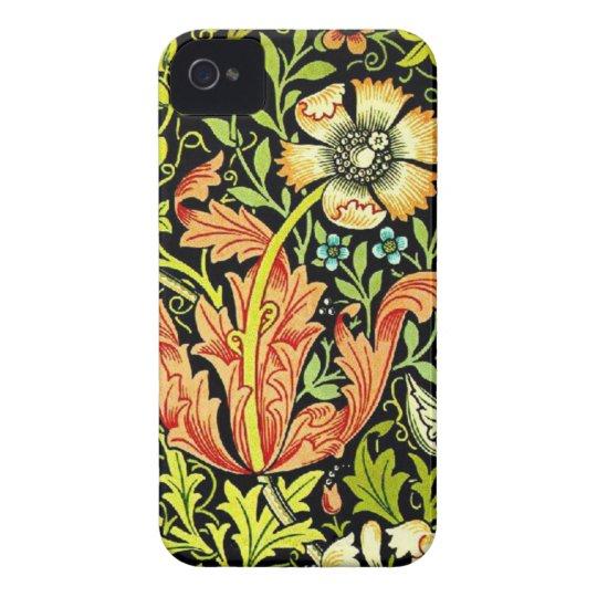 Vintage floral pattern iphone 4 cases