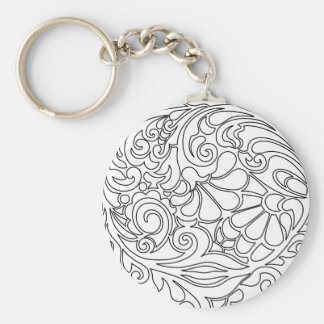 vintage floral pattern key ring