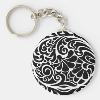 vintage floral pattern key chains