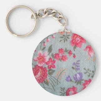 Vintage Floral Pattern Keychain