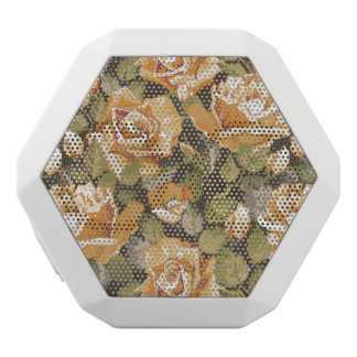 Vintage Floral pattern of yellow roses White Boombot Rex Bluetooth Speaker