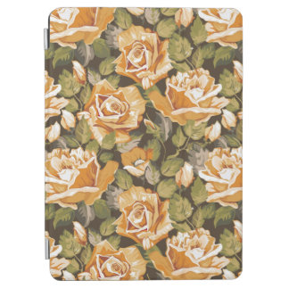 Vintage Floral pattern of yellow roses iPad Air Cover