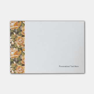 Vintage Floral pattern of yellow roses Post-it Notes