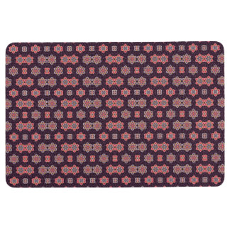 Vintage Floral Pattern Purple Peach Blue Floor Mat