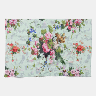 Vintage Floral Pattern Tea Towel