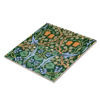 Vintage Floral Pattern William Morris Large Square Tile