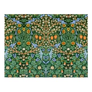 Vintage Floral Pattern William Morris Postcard