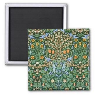 Vintage Floral Pattern William Morris Square Magnet