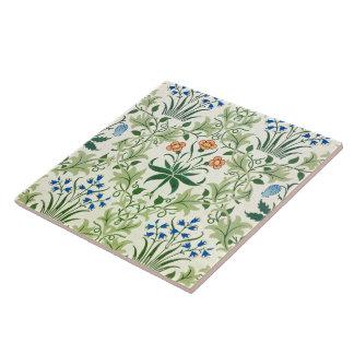 Vintage Floral Pattern William Morris Large Square Tile