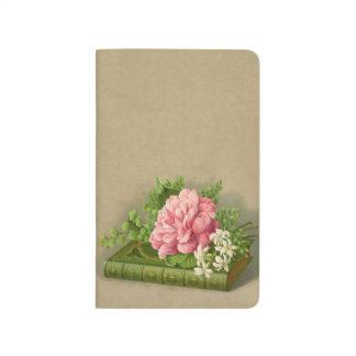 Vintage Floral Peony Classy Book Elegant