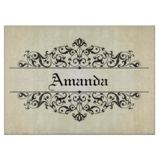 Vintage Floral Personalized Cutting Board