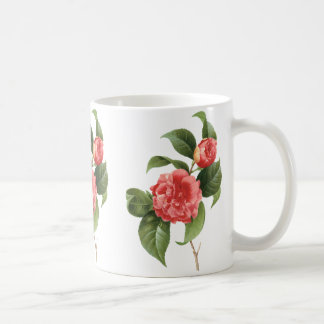 Vintage Floral, Pink Camellia Flowers by Redoute Coffee Mug