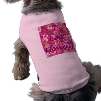 Vintage Floral Pink Pansy Pet T-Shirt