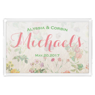 Vintage Floral Pink Romantic Wedding Couple Gift
