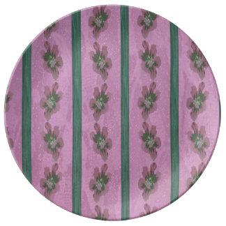 Vintage Floral Porcelain Plate