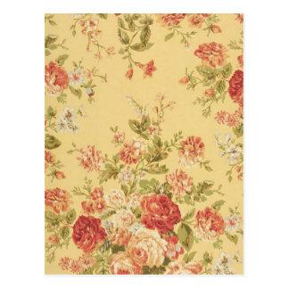 vintage Floral Postcard