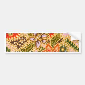 Vintage Floral Print Bumper Sticker