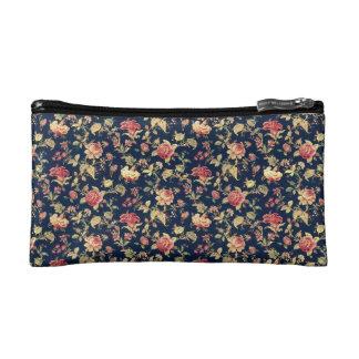 Vintage Floral Print Cosmetic Bag