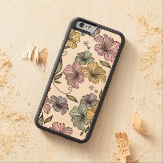 Vintage Floral Print Pattern Maple iPhone 6 Bumper Case