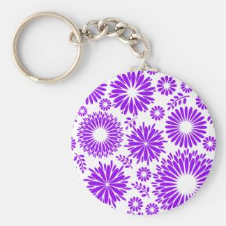 Vintage floral purple  Keychain