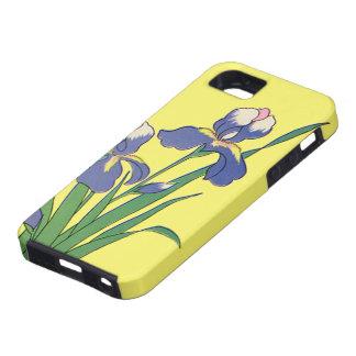 Vintage Floral, Purple Spring Garden Iris Flowers iPhone 5 Covers