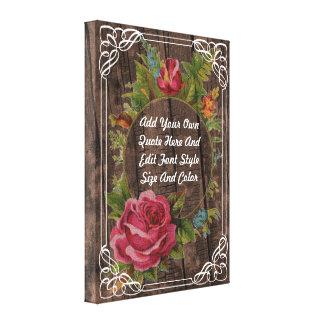 Vintage floral quote canvas print