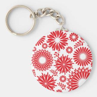 Vintage floral red Keychain
