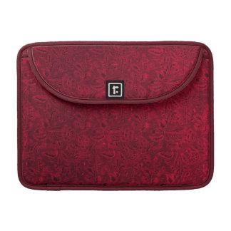 Vintage Floral Red Macbook Pro Flap Sleeve Sleeve For MacBook Pro