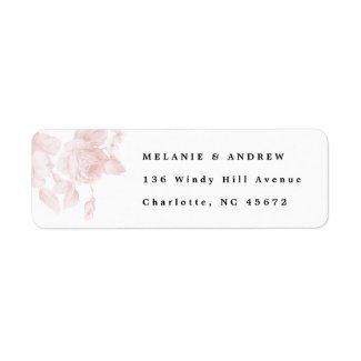 Vintage floral return address label