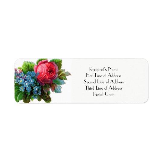 VINTAGE FLORAL Return Address Label WEDDINGS Etc.
